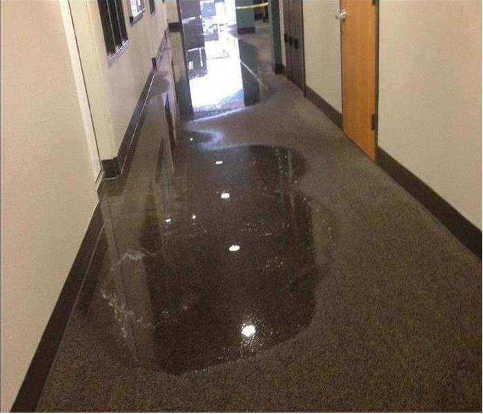 Water Damage Woes in a Commercial Ft. Lauderdale Building Before