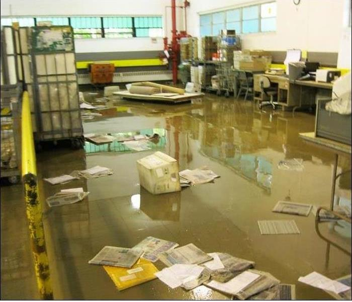 Flooding in a Ft. Lauderdale Mail Room