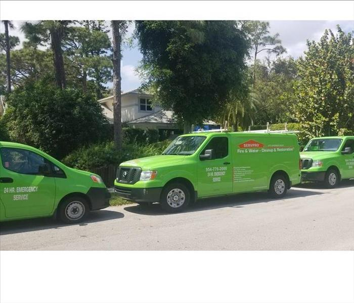 Storm Damage Ft. Lauderdale Storm Water Removal, Disinfecting, and Restoration--All Done by SERVPRO
